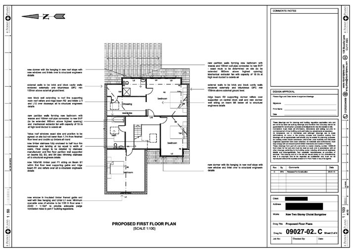 4 point plans new chalet bungalow for Chalet bungalow floor plans