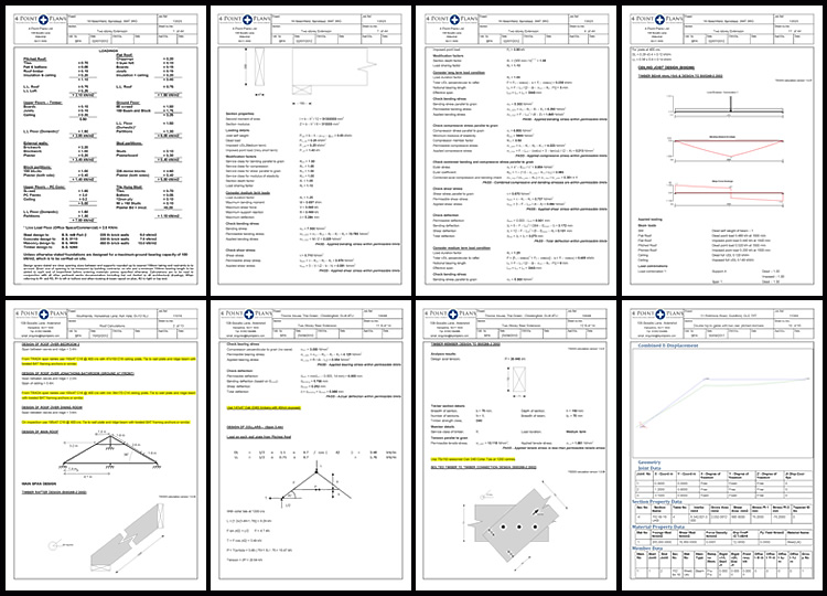 Structural Engineering Calculations : Point plans architectural design and engineering